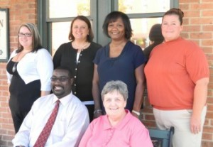 l-r (bottom row) Rondell Wise, Senior Accountant; Geneva Peters, Utility Billing Supervisor; (top row) Michelle Townsend, Customer Service Rep; Natalie Saleh, Finance Director; Shirley White, Fiscal Specialist; Melissa Coffey, Customer Service Supervisor.